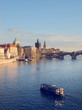 view of Prague from the river