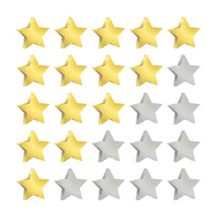 Sterne- Diagramm vektor, eins bis fünf