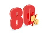 80 Percent off - red symbol