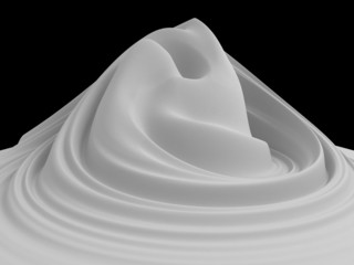 3d white abstract foam mountain background