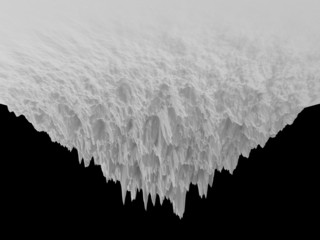 3d abstract isolated iceberg landscape