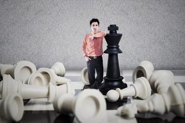 Chess winner business concept