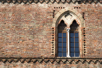 Window of a medieval castle