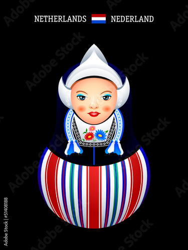 Matryoshkas of the World: dutch girl in Volendam dress