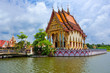 Buddhist pagoda, part of temple complex Wat Plai Laem. Thailand