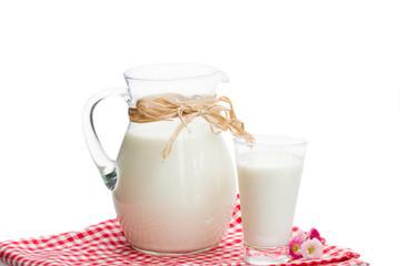 jar full of milk and glass