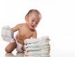 baby crawling diaper