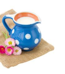 milk served in pitcher