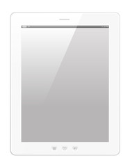Tablette tactile blanche