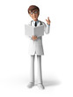 3d rendered toon character - the doctor