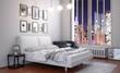 Urban Bedroom at Night