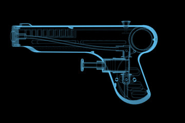 Squirt Gun (3D xray blue transparent)