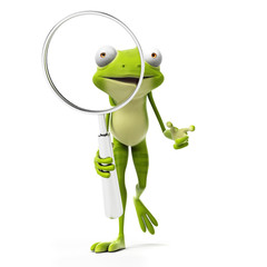 3d rendered toon character - green frog