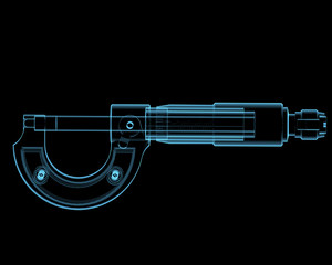 Micrometer (3D xray blue transparent)