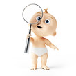 3d rendered toon character - cute baby