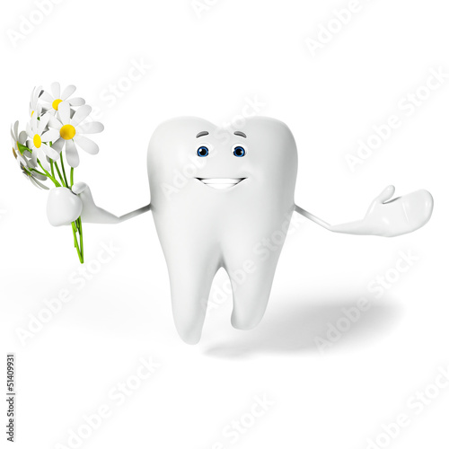 3d rendered toon character - funny tooth