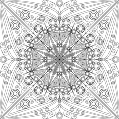 Abstract patterned background. Arabesque ornament
