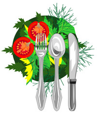 Vector icon for organic eco food