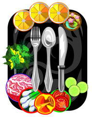 Vector icon for restaurant and cafe