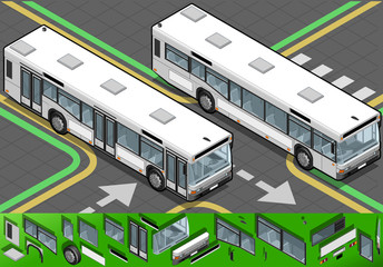 Isometric Bus in Front View