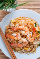 Pad Thai with shrimps