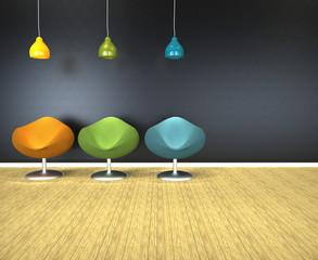 Sillas de salón modernas