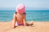 little girl on beach