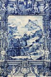 Azulejos on Capela das Almas in Porto, Portugal