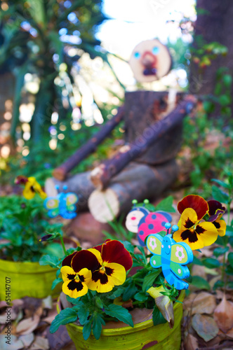 canvas print picture Wooden garden man