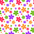 Seamless abstract pattern with flowers. Vector illustration.