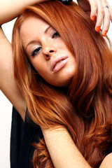 young beautiful redhead woman