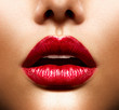 Sexy Lips. Beauty Red Lips Makeup