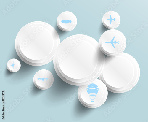 Vector abstract background circle. Web Design