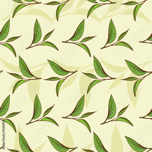 Tea leaves pattern