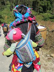 Hmong Bergstamm in Vietnam