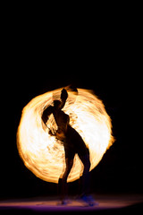 Fire Show at night on Phi Phi Island,