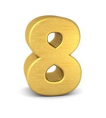 zahl cipher 8 gold vertikal