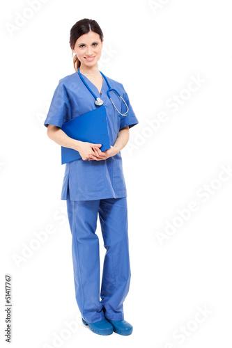 Nurse isolated on white
