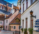 Center of old town in Riga - capital city of Latvia