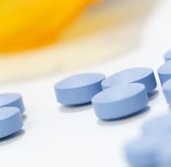a macro shot of a group of pills.