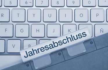 Jahresabschluss Tastatur