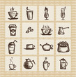 Vector illustration of hot aromatic coffee