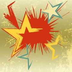 Grunge background of explosion star.