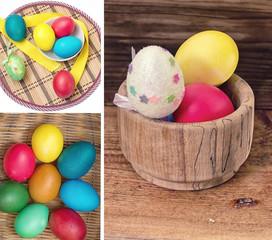 Окрашенные яйца к празднику