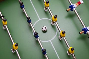 detalle de los jugadores del futbolín
