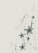 Stars on scratched beige texture. Vector
