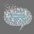 Social Media Bubble Speech Concept. Vector, EPS10