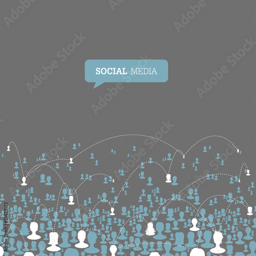 Social Media Network. Vector, EPS10