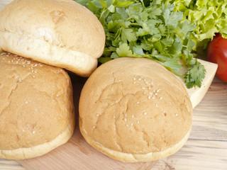 three croissants in kitchen