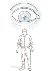 occhio che guarda uomo